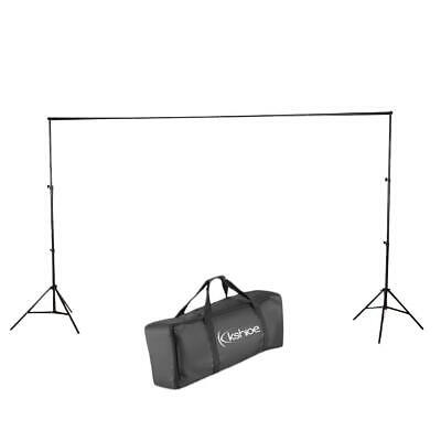 10 Ft Adjustable Background 4 Crossbar Kit Photo Studio Backdrop Support Stand