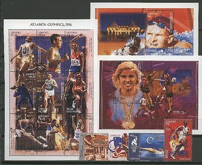Olympiade, Olympic Games, Sport - Lesotho - 1163-1175, Bl.117-118 ** MNH 1996