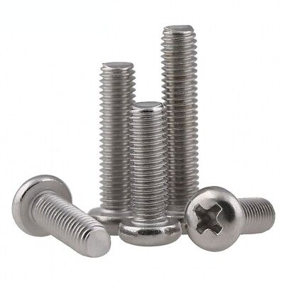 M3 A2(304) Stainless Steel Round Head Pan Head Phillips Screws Bolts M3*3-M3*80