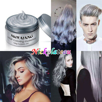 Unisex DIY Hair Color Wax Mud Dye Cream Temporary Modeling Available Gray NEW
