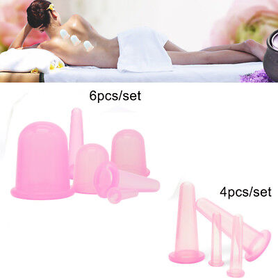 Silicone Massage Cupping Vacuum Massager Cups Therapy Anti Cellulite Mix Size US