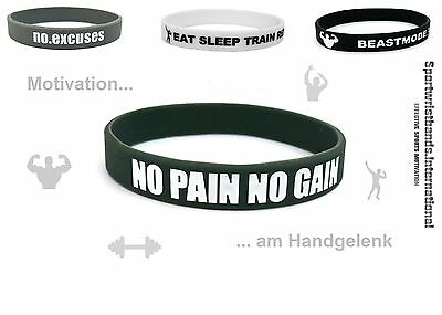 Sport Gummi Motivation Armband Fitness Bodybuilding Training Crossfit Unisex NEU