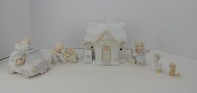 Enesco Precious Moments Sugar Town Collection Post Office Set #456217