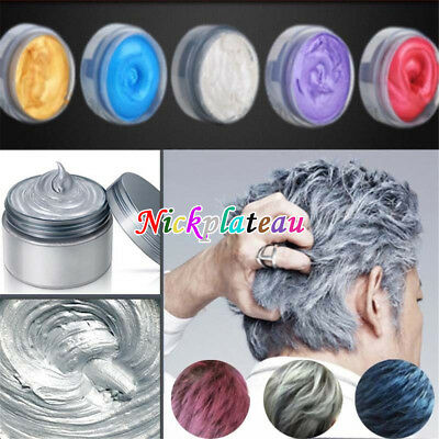 Unisex DIY Hair Color Wax Mud Party Dye Cream Temporary Modeling Mascara Beauty