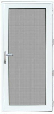 """36"""" White Recessed Mount Security Door Mesh Screen Decorative Finished Durable"""