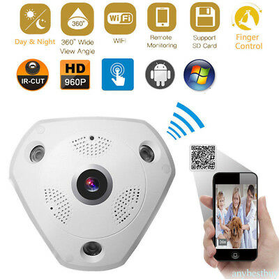360 Degree Panoramic 960P Fisheye Camera 3D VR IP WIFI Wireless Smart Camera