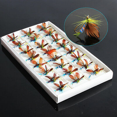 48pcs Trout Salmon Steelhead Pike Fly Fishing Flies with Hook Fly Baits Fishing