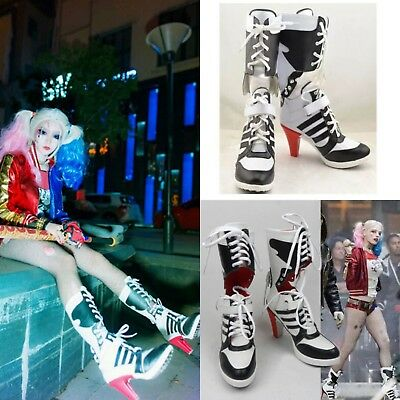 Halloween Cosplay Harley Quinn Boots Suicide Squad Boots HighHeel Shoes Costume