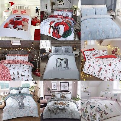 Xmas Special Polycotton Cotton Rich Duvet Cover Sets with Pillow Cases Bedding