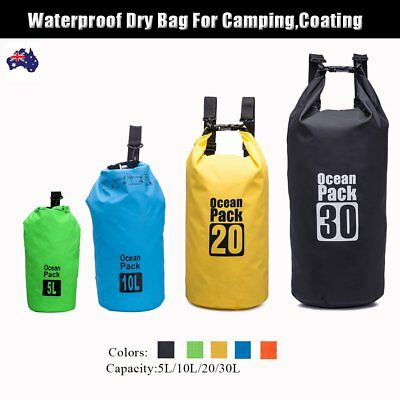 5L10L 20L 30L Waterproof Storage Dry Carry Bag Sack Backpack Pouch Boat Drifting
