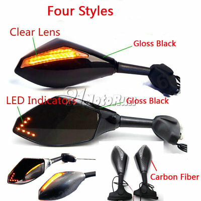 Motorcycle Led Turn Signal Mirrors For Kawasaki Ninja 650R 500R 250R 636