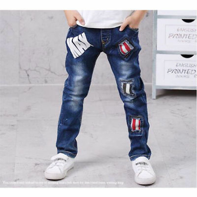 Boy Jeans personality Patch Children's Clothing Jeans Age 4-13 Years 4956HC