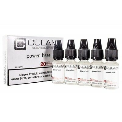 5x 10ml Nikotinkonzentrate - 50/50 - 20mg - Nikotin Shots - Culami POWER Base