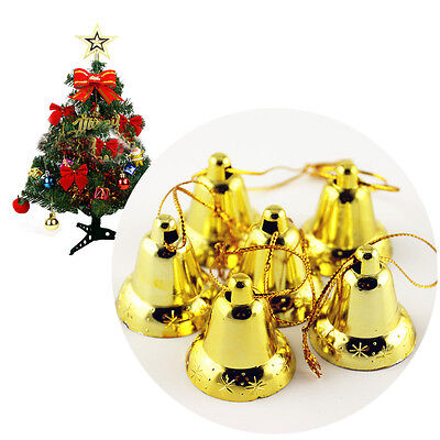 New Xmas Decoration Golden Bell Hanging Accessory 9Pcs Christmas Tree Ornament