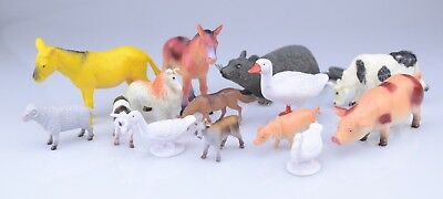 Lot of Toy Farm and Country Animals 14 total A5