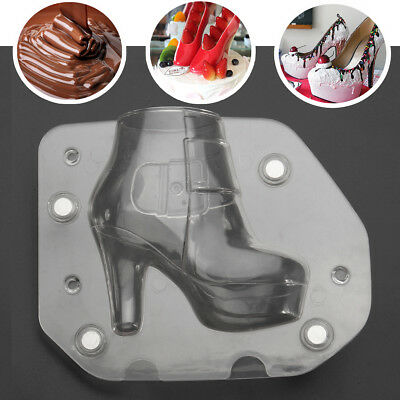 DIY 3D Lady High Heel Mold Chocolate Mold Candy Sugar Ice Mould Cake Baking Tool