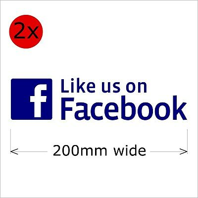 Like Us On Facebook Stickers, 200 mm wide