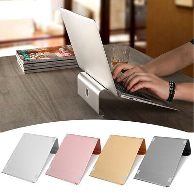 "AU Aluminum Laptop Stand Tablet Holder Dock Pad Base Mount for 11-17"" MacBook"
