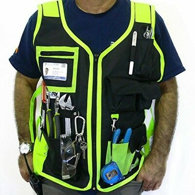 Vest Electrician Bag Pouch Waistcoat Reflective Craftman Construction Plumber