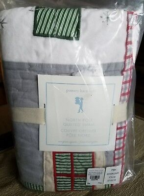 NEW Pottery Barn Kids Christmas NORTH POLE EURO Quilted Sham