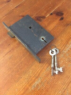 Lovely Vintage Gibbons Mortise Lock & Two Chunky Keys