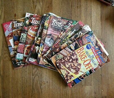 Lot of 16 Taste of Home Cooking magazines 1994-1996 vintage country paperback