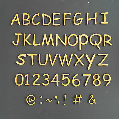 Wooden Rounded Letters & Numbers Alphabet Name Font Size 2,3,4,5,6,7,8 and 10cm