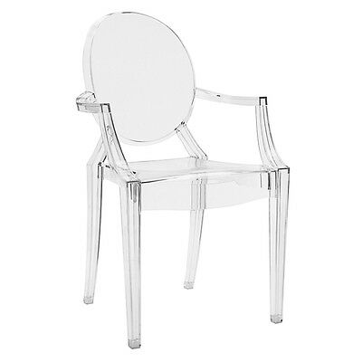 Children's Ghost style clear Chair Louis Arm Dining Chair Phillipe Starck Style