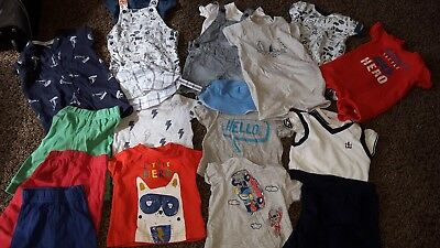 Huge baby boy summer clothing bundle! 20 items! Size 3-6 months. Bargain!!!!