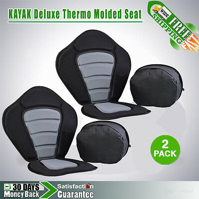 (2 pack) Luxury Adjustable Safe Padded Kayak Seat with Detachable Back Pack EJG