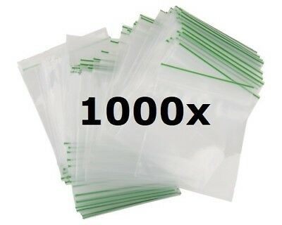 1000 Small Tiny Sealy Grip Zip Lock Up Seal Gummy Small Bags Baggies 3 Sizes Uk