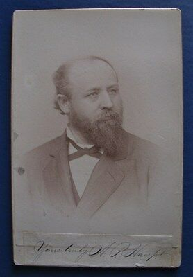 Signed CDV photograph of A. P. Haupt  - author of Haupts Natural German Method