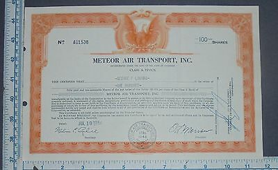 Original Stock Certificate METEOR AIR TRANSPORT INC