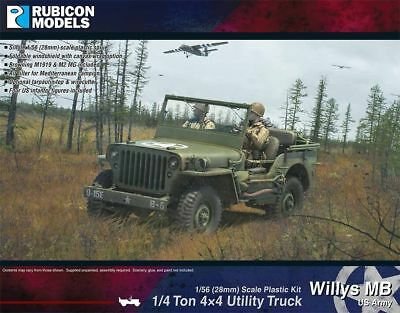 Rubicon Models - Willys MB 1/4 Ton 4x4 Truck US Standard 1/56 USA Jeep 280049