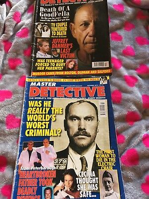 Master Detective Monthly Magazines Two True Crime Murder Police Used Great Read