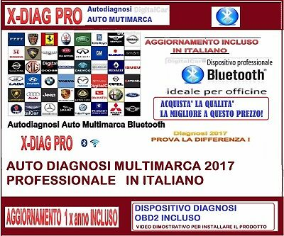 Diagnosi X-Diag Pro Novita 2017 Auto Professionale Multimarca Italiano Android