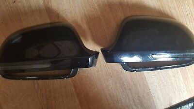 Audi A3 8p Wing Mirror Covers Black With Indicator 2008 Onwards