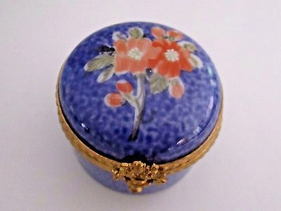 Dubarry LIMOGES FRANCE FLORAL Hinged Trinket Box