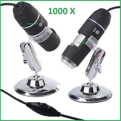 Microscopio Digitale  Usb 1000X Pc Notebook Foto Video 8 Led 2.0 Mpx