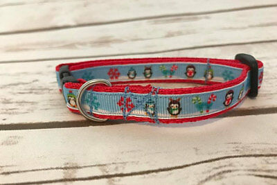 CHRISTMAS Penguin Snowflakes Festive Xmas Cat Kitten Puppy Small Dog Collar