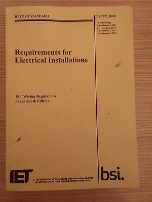 17th Edition Wiring Regulations BS 7671:2008 Incorporating Amendment 3:2015