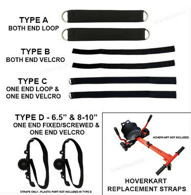 HoverKart Straps for Hoverboard - All Types Available -  Hover Cart Kart - UK