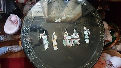 oriental table, brown, large size, dark brown and in great condition