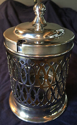 Silver plated Jam/preserve jar container/pot
