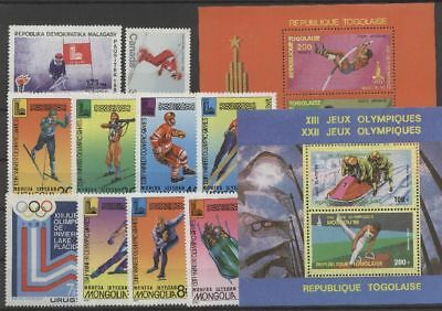 Olympiade 1980, Olympic Games, Sport - LOT ** MNH