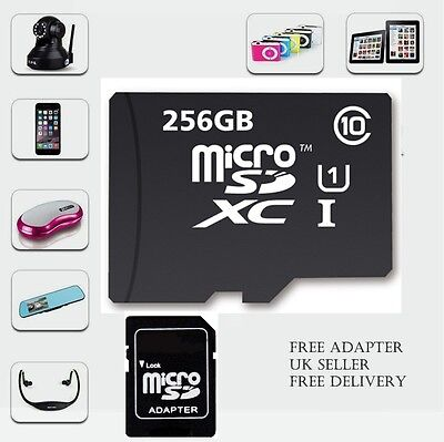 256GB Micro SD Card Class 10 TF Flash Memory Mini SDHC SDXC -FREE ADAPTER
