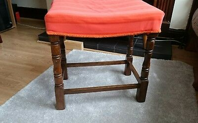 antique dressing table stool / piano stool