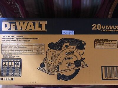 "NEW!!!Dewalt DCS391B 20V 6-1/2"" Cordless Circular Saw 20 volt NEW Tool NIB"