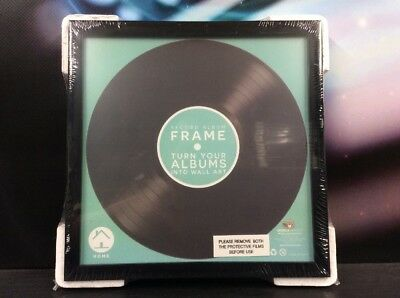 "Vinyl 7"" Record Black Single Picture Frame Display Wall Art - New"