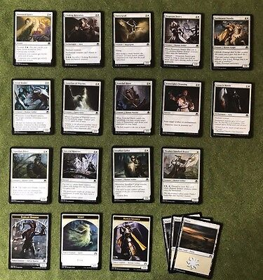MTG - Eldritch Moon (EMN) - Full Playset of Commons - White